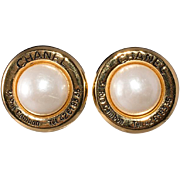Chanel Rue Cambon Faux-Pearl Earrings