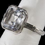 Ciner 1930s Sterling Silver Rhinestone Ring