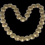 Necklace with Peru Sol de Oro Coins Vintage 1970s
