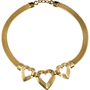 Christian Dior Goldtone Heart Necklace