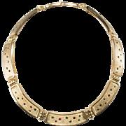 Christian Dior Jewel Tone Rhinestone Collar Necklace