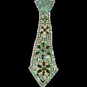 Dominique 6.25 Inch Rhinestone Necktie Brooch Pin