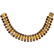 Dominique Brown Amber Rhinestone Bracelet