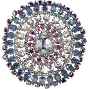 Dominique HUGE 4 Inch Rhinestone Statement Brooch Pin