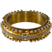 Erickson Beamon Lucite with Rhinestones Bangle Bracelet