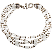 Escada Glass Bead Torsade Necklace 1980s