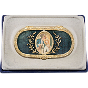 Estee Lauder Cameo Enameled Solid Perfume Compact w/ Box