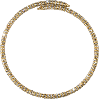 Francoise Montague French Rhinestone Collar Necklace Mabrouk