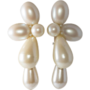 Wendy Gell Faux Pearl Dangle Earrings