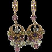 Stanley Hagler 1960s Bead Dangle Chandelier Earrings Vintage