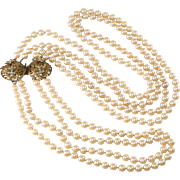 Stanley Hagler Faux Pearl Convertible Necklace