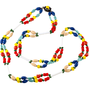 Miriam Haskell Multicolored Glass Bead Necklace