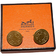 Hermès Button Earrings with Box