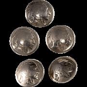 Indian Head Buffalo Nickel Coin Buttons