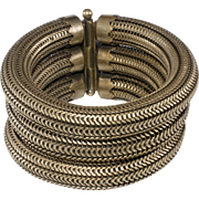 Joseff of Hollywood Kismet 1940s Tube Bracelet