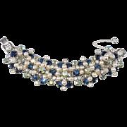 LAYAWAY - Juliana Blue Rhinestone Faux Pearl Dangle Bracelet