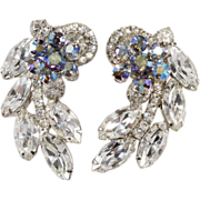 Juliana D&E Clear & Iridescent Rhinestone Earrings