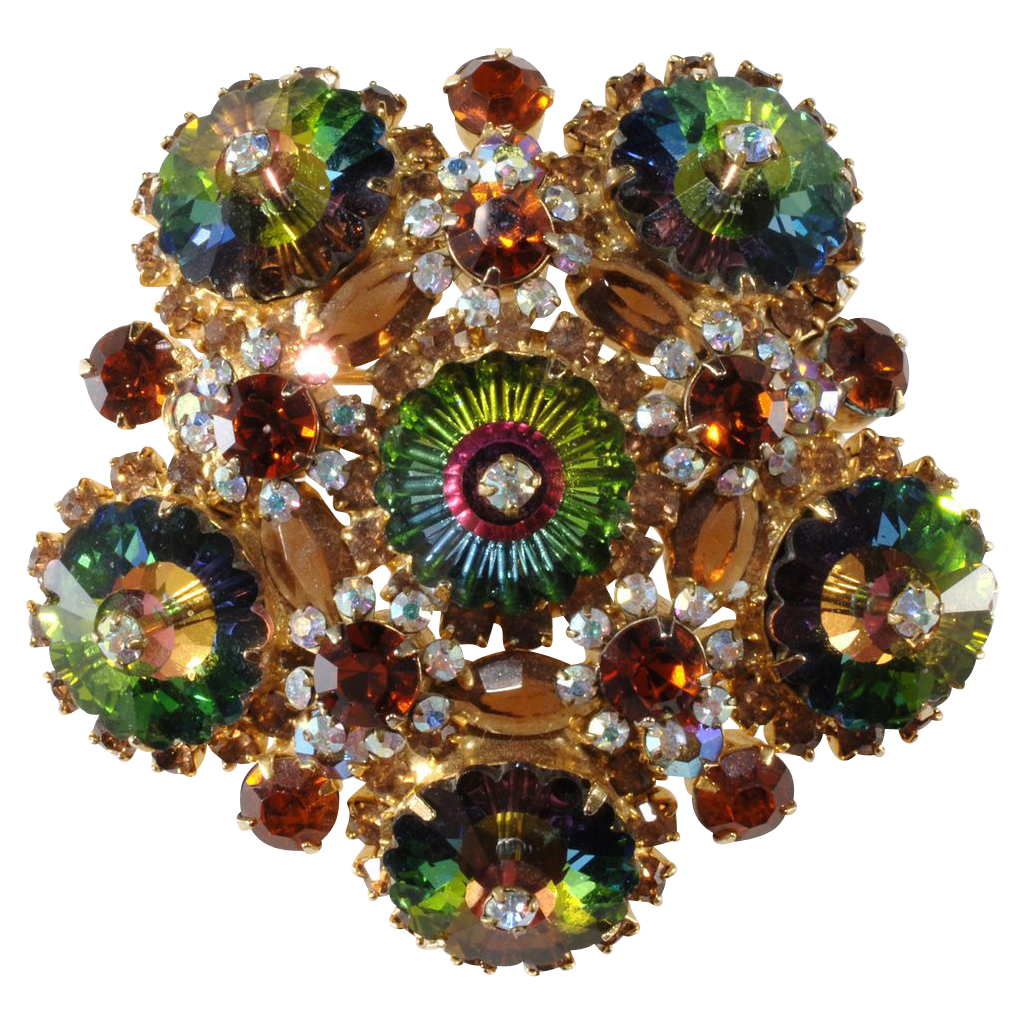 Juliana Margarita Rhinestone Brooch Pin