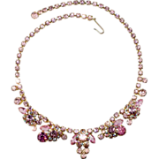 Juliana D&E Pink Rhinestone Necklace