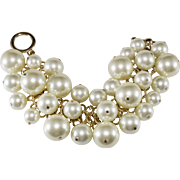 Kenneth Jay Lane KJL Faux Pearl Dangles Bracelet
