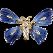 Kenneth Jay Lane Trembler Butterfly Brooch