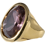 K.J.L. Pink and Gold Finger Ring Adjustable Kenneth Jay Lane