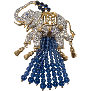 Elizabeth Taylor Elephant Walk Dangle Brooch Pin 1993