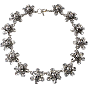 Monet Jewelers 1930s Flower Necklace