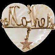 Mother Sweetheart Pin Heart w/ Star