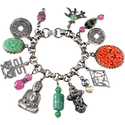 Napier Asian Themed Buddah Charm Bracelet