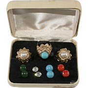 Napier Convertible Ring and Earring Set