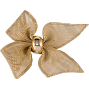 Napier Huge Mesh Bow Brooch Pin Vintage