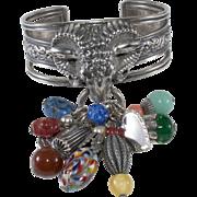Napier 1950s Ram Cuff Bracelet with Charms