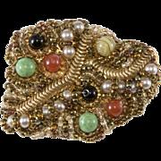 Ornella Italian 1960s Modernist Brooch Pin