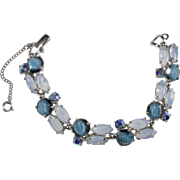 Schiaparelli Blue Rhinestone Bracelet Vintage