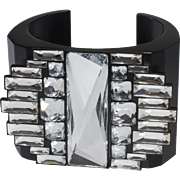 Swarovski Swan Mark Rhinestone Statement Cuff Bracelet Thyra