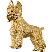 Trifari 1960s Schnauzer Dog Brooch Pin