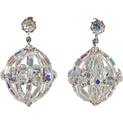 Vendome Crystal Dangle Ball Chandelier Earrings Prototype