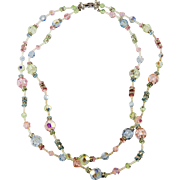 Vendome Pastel Crystals and Rhinestone Bead Necklace