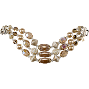 Vendome Glass Bead Faux Pearl Bracelet