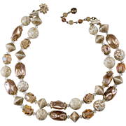 Vendome Glass Bead Faux Pearl Necklace
