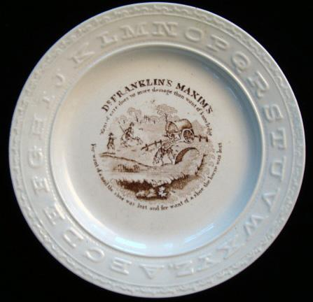 Early Pearlware ABC Plate ~  Knowledge 1850