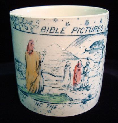 Child's ABC Mug ~ Bible ~ Noah and Ark 1880