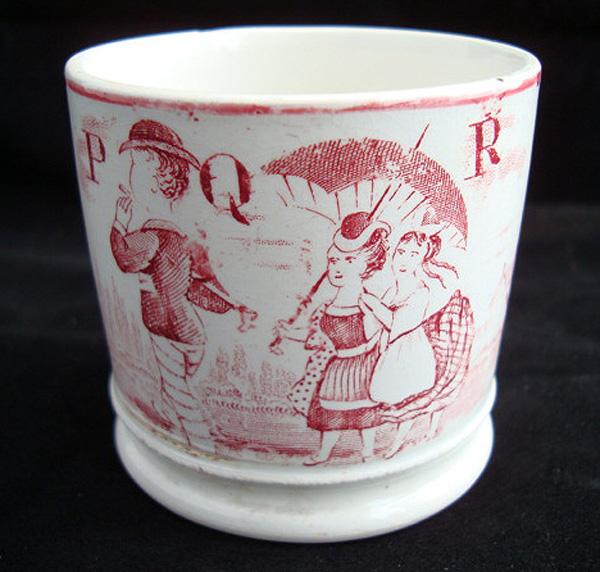 19th Century ABC Mug ~ P - Q - R  1850