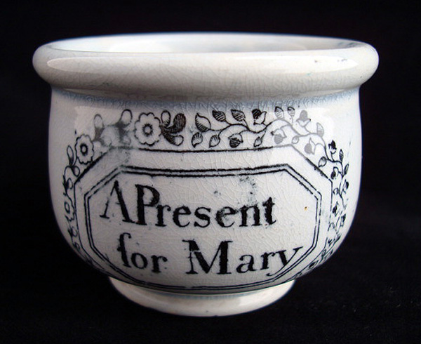 Pearlware Christening Mug ~ MARY 1830