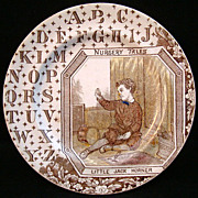 Antique ABC Plate ~ Little Jack Horner 1880