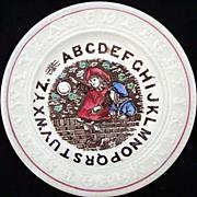 Staffordshire  Double ABC Plate ~ BUBBLES 1880