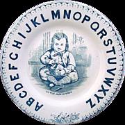 Antique Alphabet Plate ~ Little Jack Horner 1880