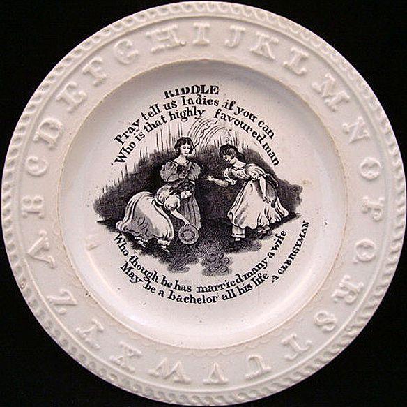ABC Rare Pearlware Plate ~ CLERGYMAN 1840