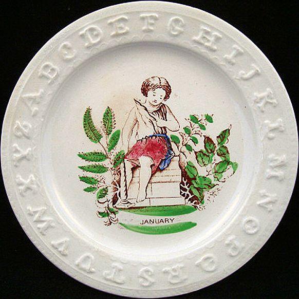 ABC Plate ~ January ~ 1850